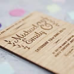 woodsy wedding invitations wooden wedding invitations laser link