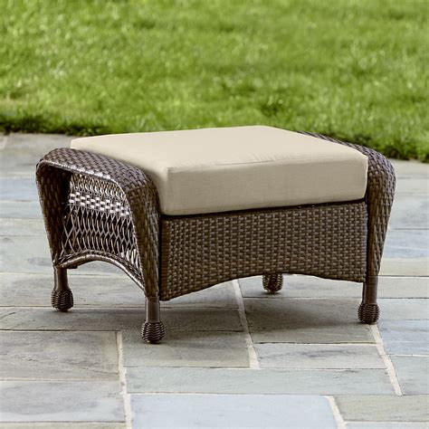 Small Ottoman by Grand Harbor May Small Ottoman Outdoor Living