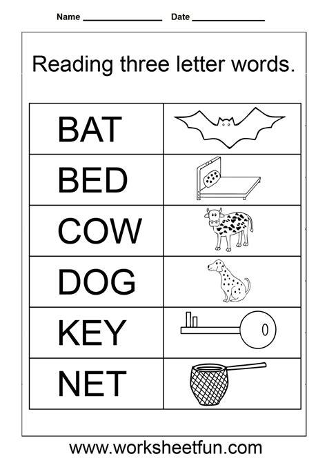 Simple Words  Worksheet  Homeschooling Reading & Grammar  Pinterest  Kindergarten Reading