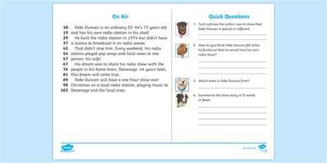 * New * Lks2 Shed Dj Daily News 60second Read Activity Cards