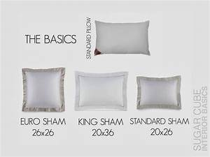 sugar cube interior basics how to stage your bed like a With european sham dimensions