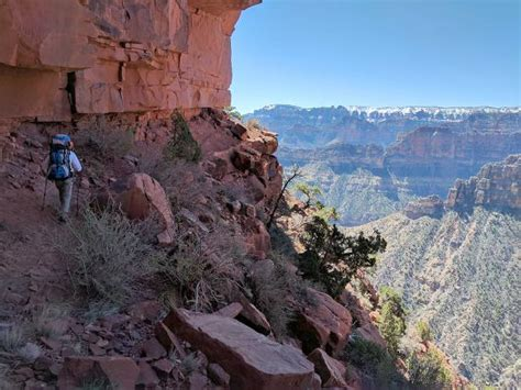 nankoweap trail hiking  grand canyons  difficult