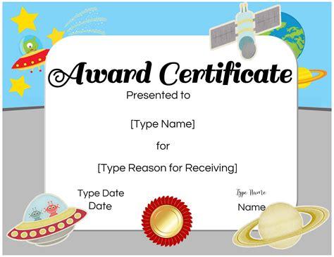 custom certificates  kids customize