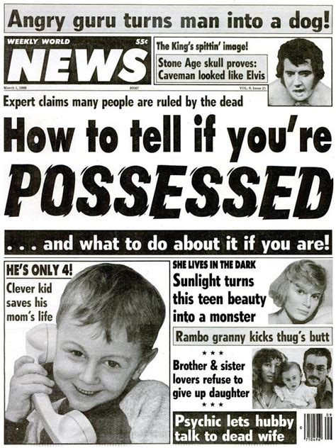 Weekly World News, March 1, 1988 | Yesterday's Print in ...