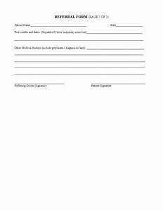form medical referral form With doctor referral form template