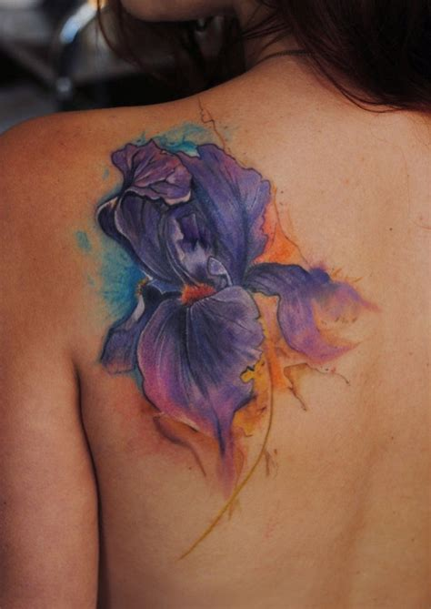 Tatouage Fleur Iris  Modèles Et Exemples