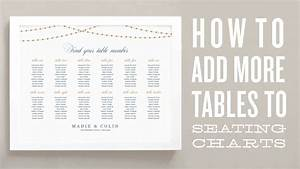 How To Add More Tables To Your Wedding Seating Chart