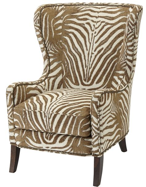 patterned upholstered wingback arm chair