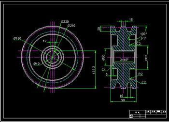 home design blueprints pulley 1 cad drawings free autocad blocks cad