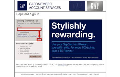 Gap Credit Card Login  Make A Payment Creditspot