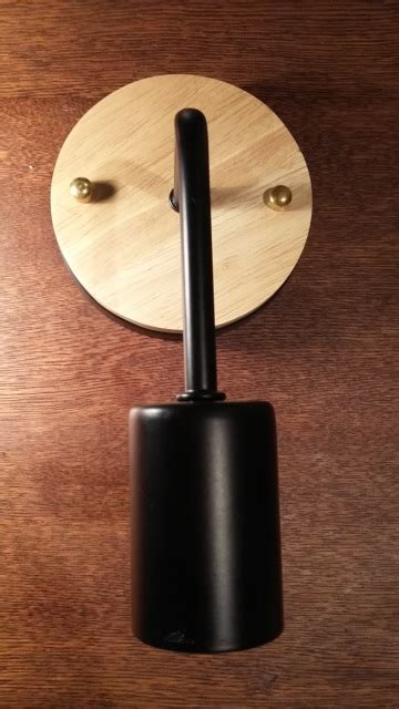 wall sconce with wood feature black