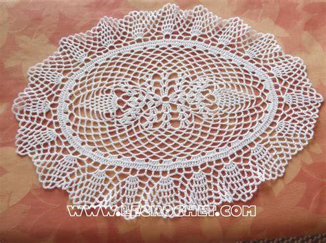 napperon de cuisine napperon ovale au crochet