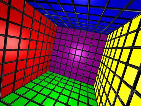 colorful  cube  grid digital art  shazam images