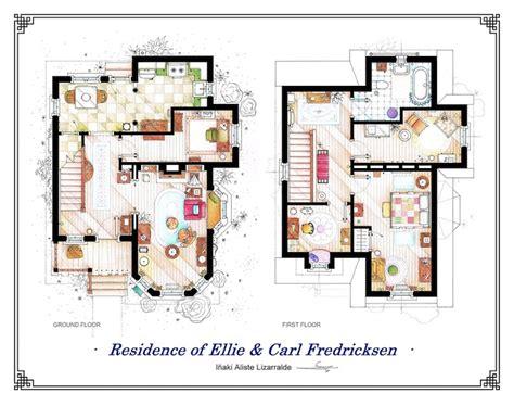 detailed floor plan drawings  popular tv  film homes