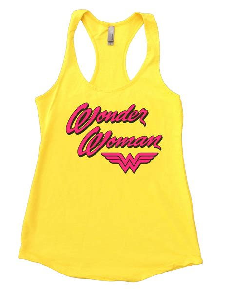 Funny Womens Workout Lifting Flowy Tank Top Wonder Woman