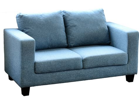 seconique tempo  seater sofa   box blue fabric