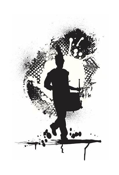 Marching Band Vector Silhouette Drummer Drum Major