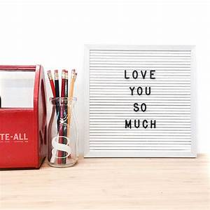 10 x 10 white letter board set w 290 piece by With white letter board