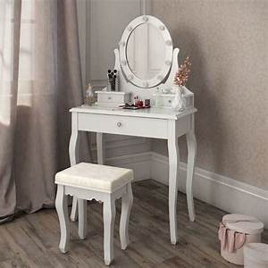 Schminktisch Spiegel Mit Beleuchtung : masa de toaleta oglinda alba mdf ~ Sanjose-hotels-ca.com Haus und Dekorationen