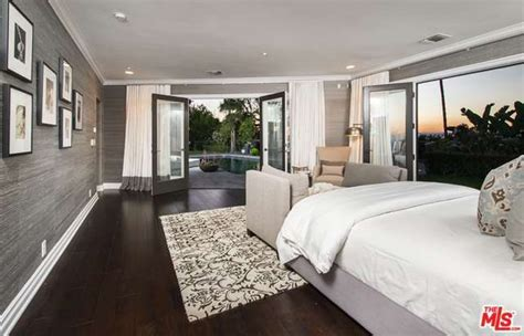 master bedroom mila kunis los angeles mansion lonny