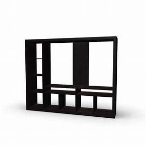 Ikea Tv Möbel : expedit tv m bel schwarzbraun einrichten planen in 3d ~ Lizthompson.info Haus und Dekorationen