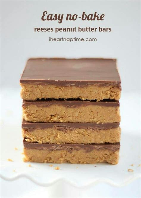 easy no bake reese s peanut butter bars desserts