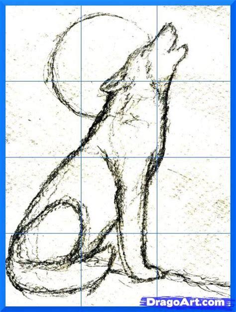 draw  howling wolf step  art pinterest