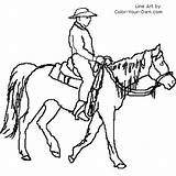 Coloring Trail Rider Pages Horse Own sketch template