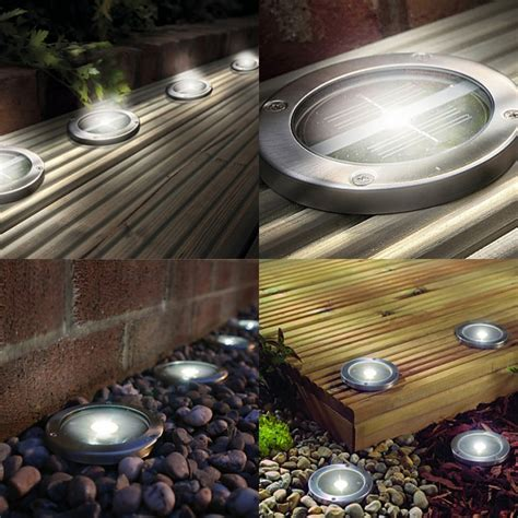 white led solar powered deck decking lights