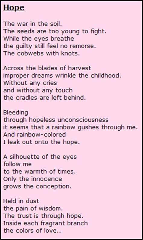 hope quotes  poems quotesgram