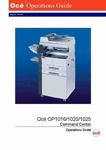 Oce Op1016 Operation Guide Command Center Printer Download