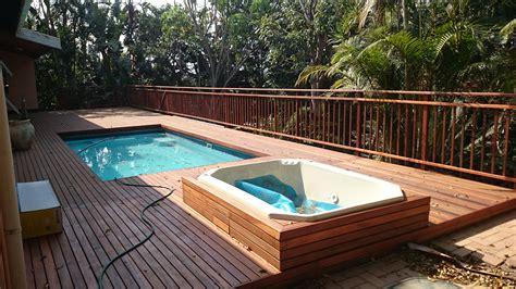Wooden Pool Deck Built In Westville, Durban