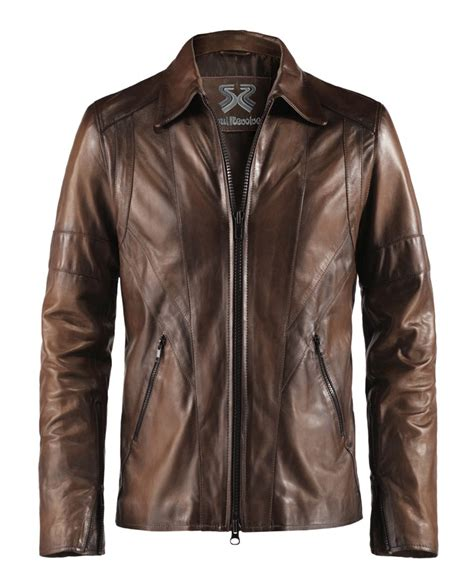 classic vintage style leather jacket wraith soul revolver