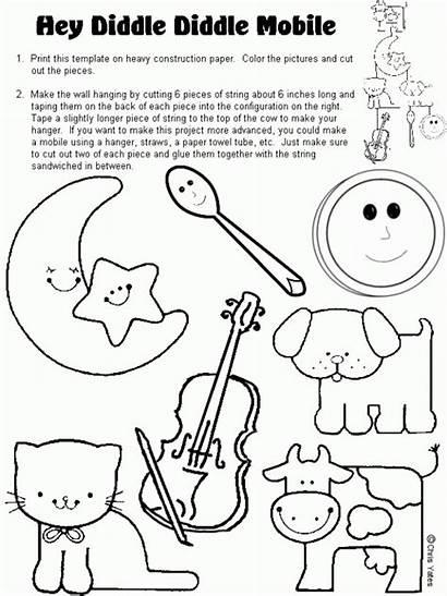 Diddle Hey Nursery Rhyme Rhymes Preschool Crafts