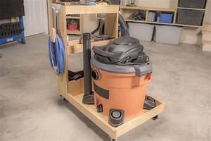 Shop Vacuum Cart With Onboard Storage