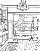 Coloring Victorian Pages Bathroom Adult Colouring Drawing Furniture Houses Printable Sheets Books Mary Clean Rose Interior Taylor Line Modern Colors sketch template