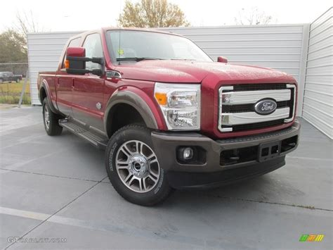 ruby red metallic ford  super duty king ranch