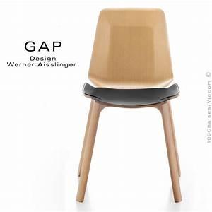 Chaise Bois Design : chaise design bois gap structure ch ne assise cuir lot de 8 pi ces ~ Teatrodelosmanantiales.com Idées de Décoration