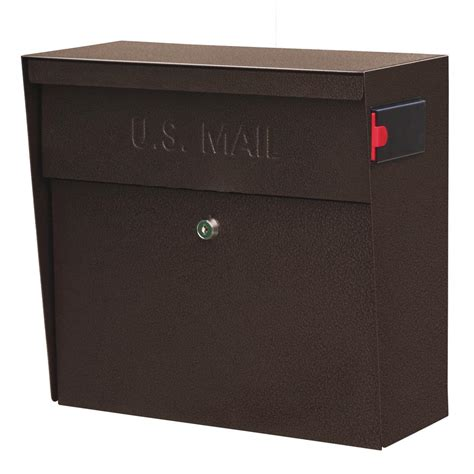 wall mount mailbox mail metro locking wall mount mailbox with high 4612