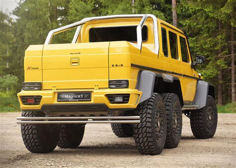 You can find a wide range of vehicles that are kept in your range. Mansory Mercedes G63 AMG 6x6