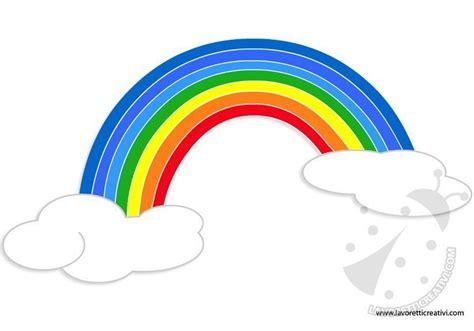arcobaleno sagome da ritagliare lavoretti creativi