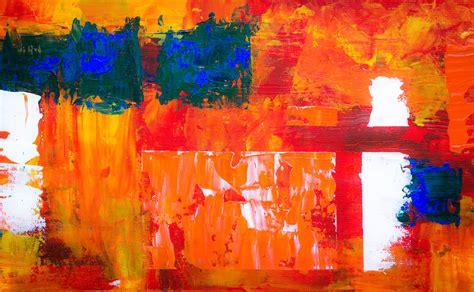 images modern art painting orange red acrylic