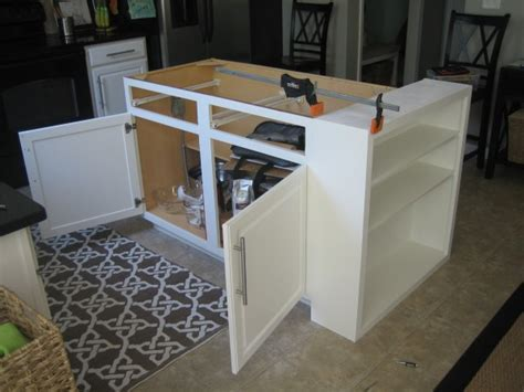 how to make a kitchen island with base cabinets house tweaking