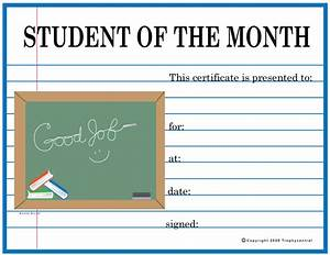 free student of the month certificates certificate free With free printable student of the month certificate templates