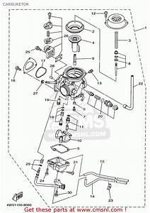 Yamaha Yfm600fwak 1998 Carburetor