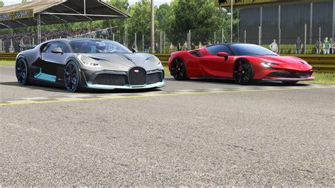 Virtuasportscars 10.050 views1 year ago. Bugatti Divo vs Ferrari SF90 Stradale at Monza Full Course - YouTube