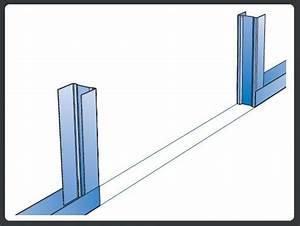Doubler Un Mur En Placo Sur Rail : rails pour demi cloison ~ Dode.kayakingforconservation.com Idées de Décoration