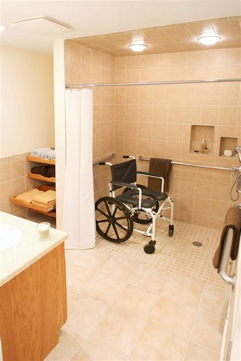 large bathroom design  family  mind handicap accessible bathroom  lots  space