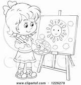 Painting Sun Clipart Canvas Outlined Illustration Royalty Bannykh Alex Vector Collc0056 Clipartof sketch template