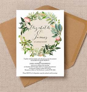 Top 8 printable floral wedding invitations for Wedding invitations printing trinidad